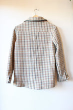 Load image into Gallery viewer, SEZANE IVORY BROWN HOUNDSTOOTH WOOL JACKET SZ S (FITS XS SLIGHTLY SHRUNKEN)