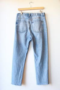 & OTHER STORIES HIGH RISE RAW HEM TAPERED JEANS SZ 30/10