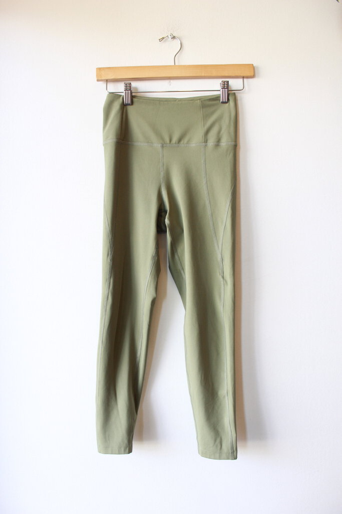 GIRLFRIEND COLLECTIVE GREEN HIGH RISE LEGGINGS SZ S