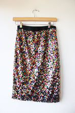 Load image into Gallery viewer, H&M SEQUIN STRETCH SKIRT SZ 4
