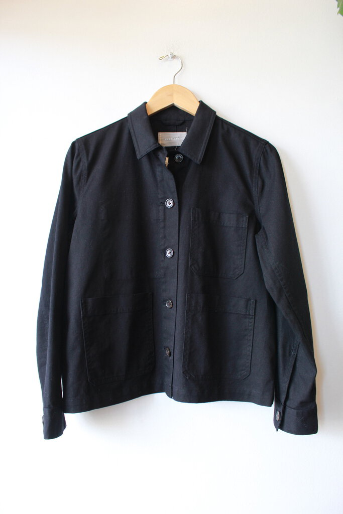 EVERLANE CHORE JACKET IN BLACK SZ S