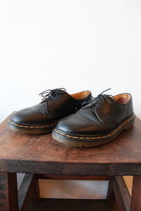 DR. MARTENS MADE IN ENGLAND 461 DERBYS BLACK OXFORDS SZ 8 (AS IS: WEAR)