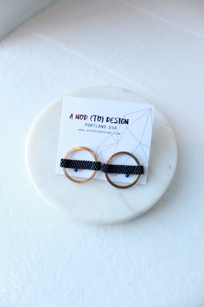 A Nod to Design PDX Circle earring in black