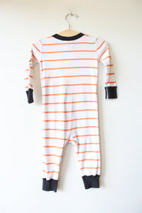 HANNA ANDERSSON ORANGE WHITE STRIPED SKELETON PJS SZ 70/9-18M