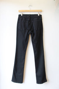 FRAME LE MINI BOOT WASHED BLACK HIGH RISE JEANS WITH FRONT SEAM SZ 27/4