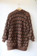 Load image into Gallery viewer, VINTAGE RIGHT FASHION BROWN MOHAIR BLEND FAB SWEATER COAT SZ M