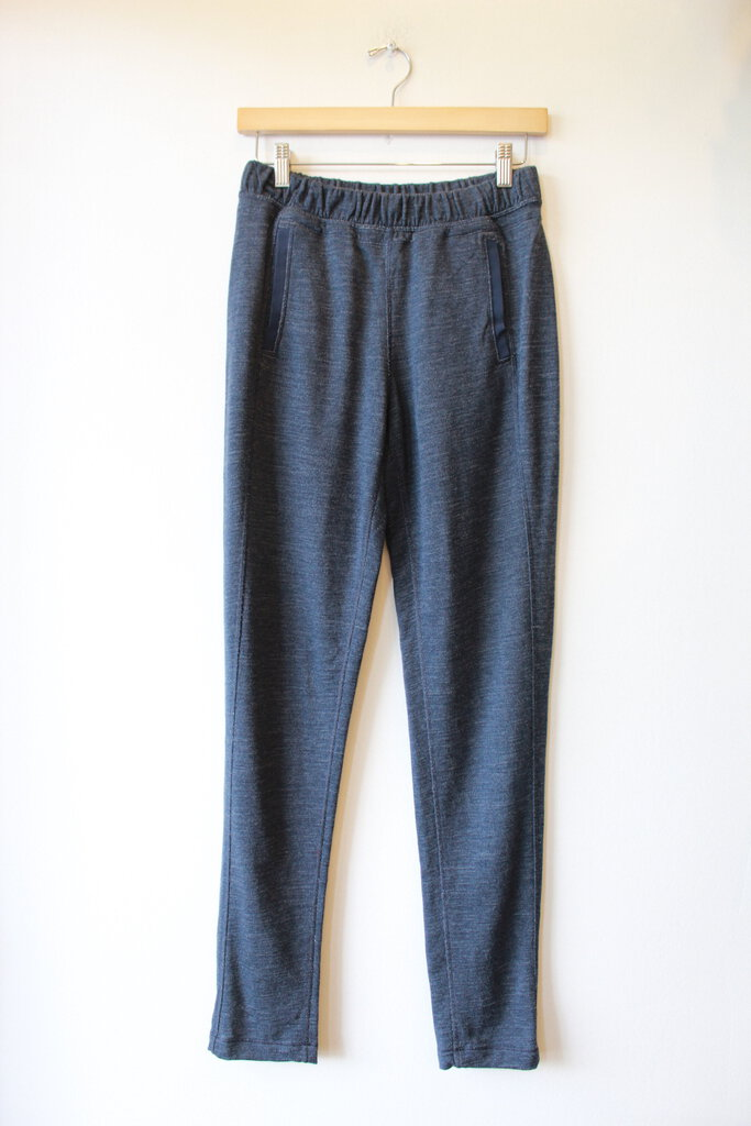LULULEMON HEATHER BLUE MERINO SWEATS SZ XS