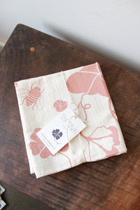 ELANA GABRIELLE NASTURTIUM TEA TOWEL IN CLAY