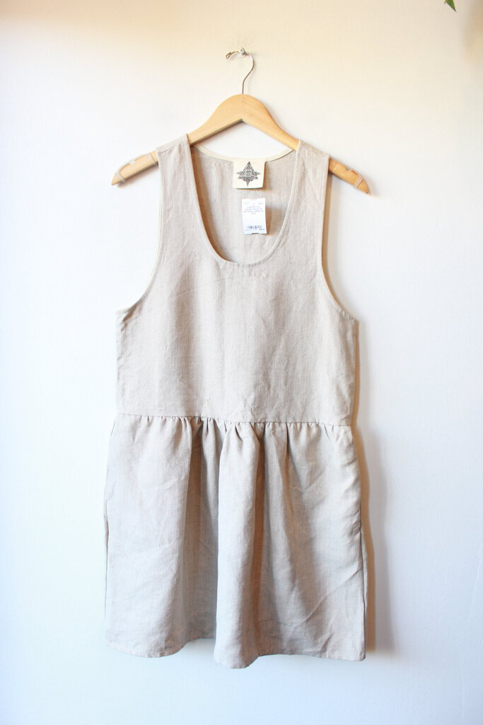 JUNGMAVEN MOAB DRESS IN NATURAL HEMP SZ XXS