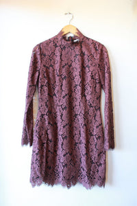 GANNI RAISIN LACE MINI DRESS SZ 38/6 NWT