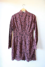 Load image into Gallery viewer, GANNI RAISIN LACE MINI DRESS SZ 38/6 NWT