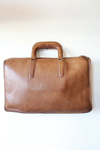 VINTAGE COACH CAMEL LEATHER BRIEFCASE (VINTAGE WEAR)