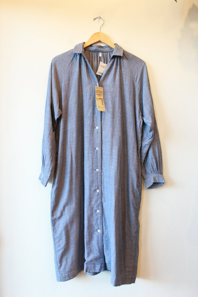 MUJI CHAMBRAY SHIRT DRESS SZ XS/S NWT