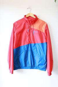 COTOPAXI 'TECA MIRA' RED, BLUE & ORANGE HALF-ZIP WINDBREAKER SZ L