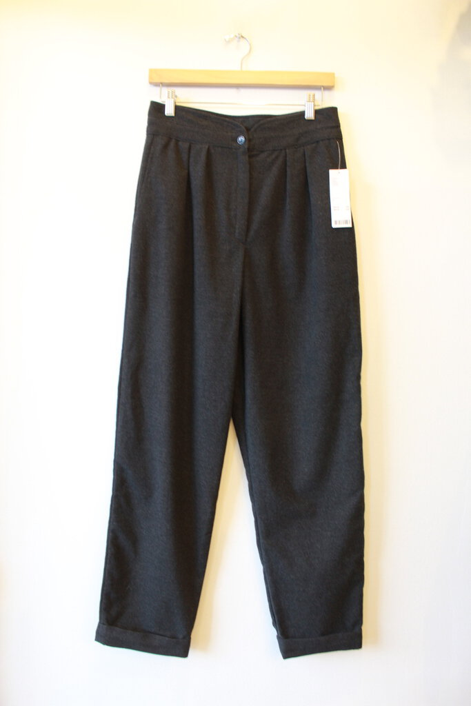 URBAN OUTFITTERS CHARCOAL FELTED HIGH RISE TAPERED TROUSERS SZ 6 NWT