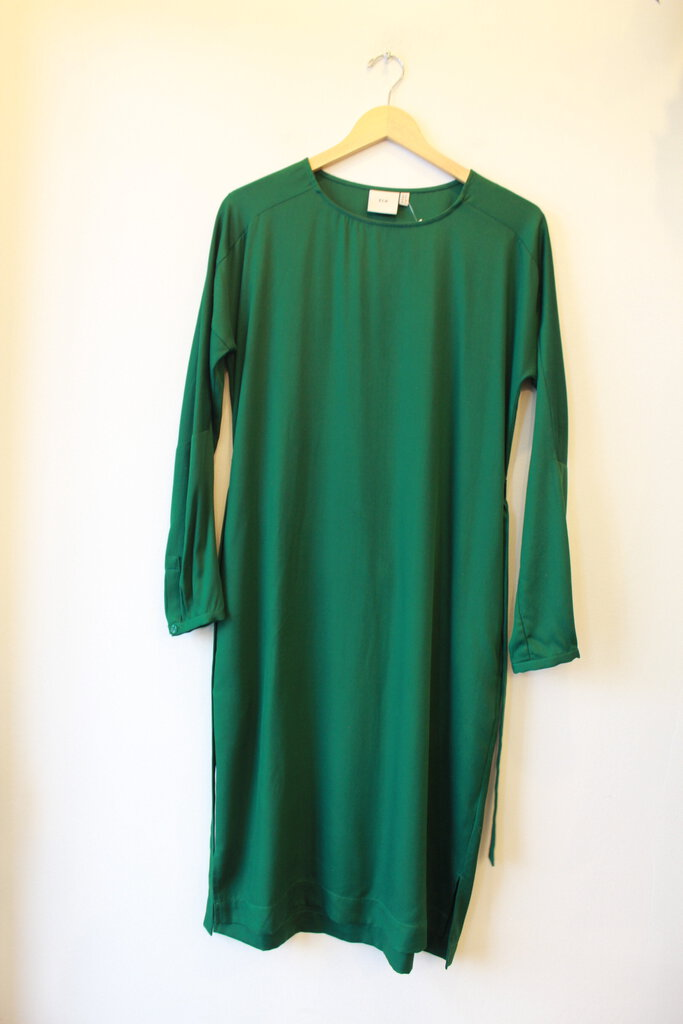 ELK FOREST GREEN LONG SLEEVE DRESS WITH BELT SZ 4