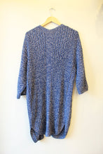 Load image into Gallery viewer, GAP HEATHER BLUE COTTON LONG OPEN CARDIGAN SZ S (FITS S-M)