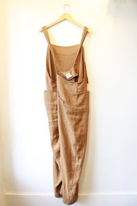BEATON OCHRE LINEN OVERALLS, MADE IN CANADA, LIKE NEW, SZ XL (3)