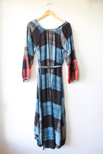 Load image into Gallery viewer, ACE & JIG COTTON 'CAROLINA' BLUE PLAID L/S MIDI W/'PENANT' CUFFS SZ XS