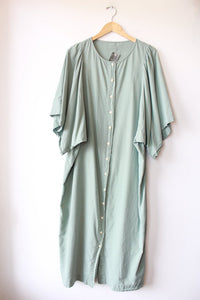 ILANA KOHN ELEANOR DRESS IN REED COTTON TWILL SZ XL (TAG REMOVED)