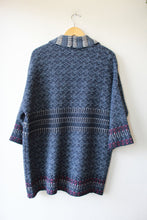 Load image into Gallery viewer, LINEAMAGLIA BLUE WOVEN OPEN SWEATER COAT SZ S