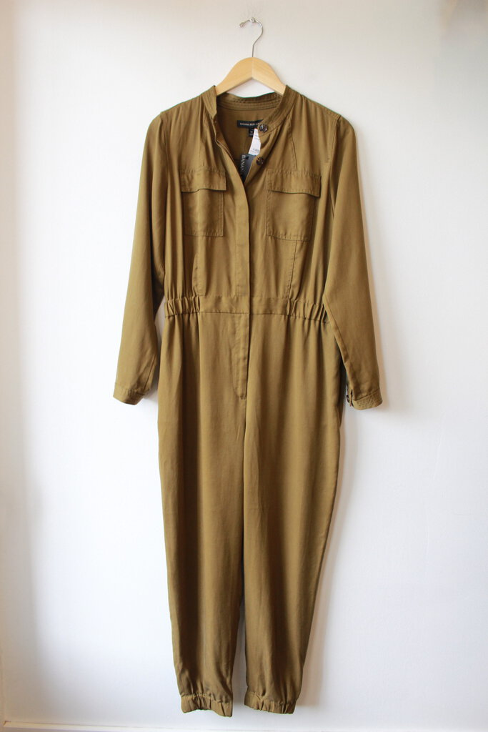 BANANA REPUBLIC FATIGUE TENCEL COVERALLS NWT SZ 10