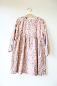 OLIVE JUICE PLUM PINK DITSY DRESS SZ 7