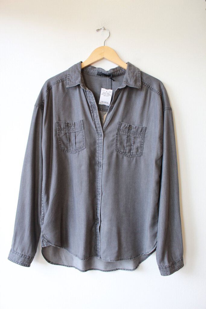 PRANA GREY 'UPDRIFT' TENCEL SHIRT NWT (RETAIL $69) SZ M