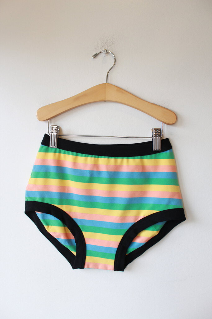 Thunderpants Women's Original Pastel Rainbow Stripe sz L