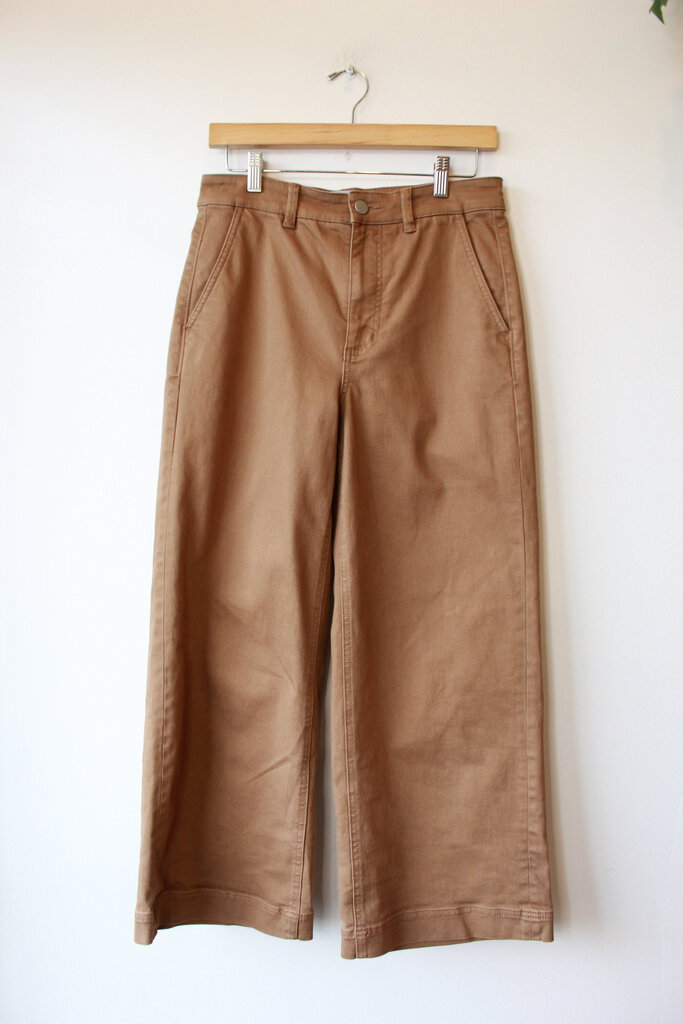 EVERLANE WIDE LEG CROP IN BROWN SZ 4