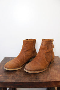 FRANCO SARTO BROWN SUEDE ANKLE BOOTS SZ 7.5-8