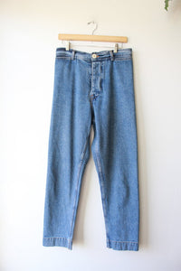 JESSE KAMM RANGER PANTS IN AMERICAN DENIM SZ 8 (RETAIL $395)