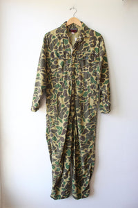 VINTAGE WEATHER-RITE CAMO COVERALLS SZ M