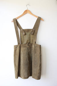 ASOS OLIVE SUEDE JUMPER DRESS SZ 8