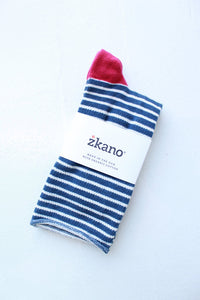 zkano Rose sock in Navy