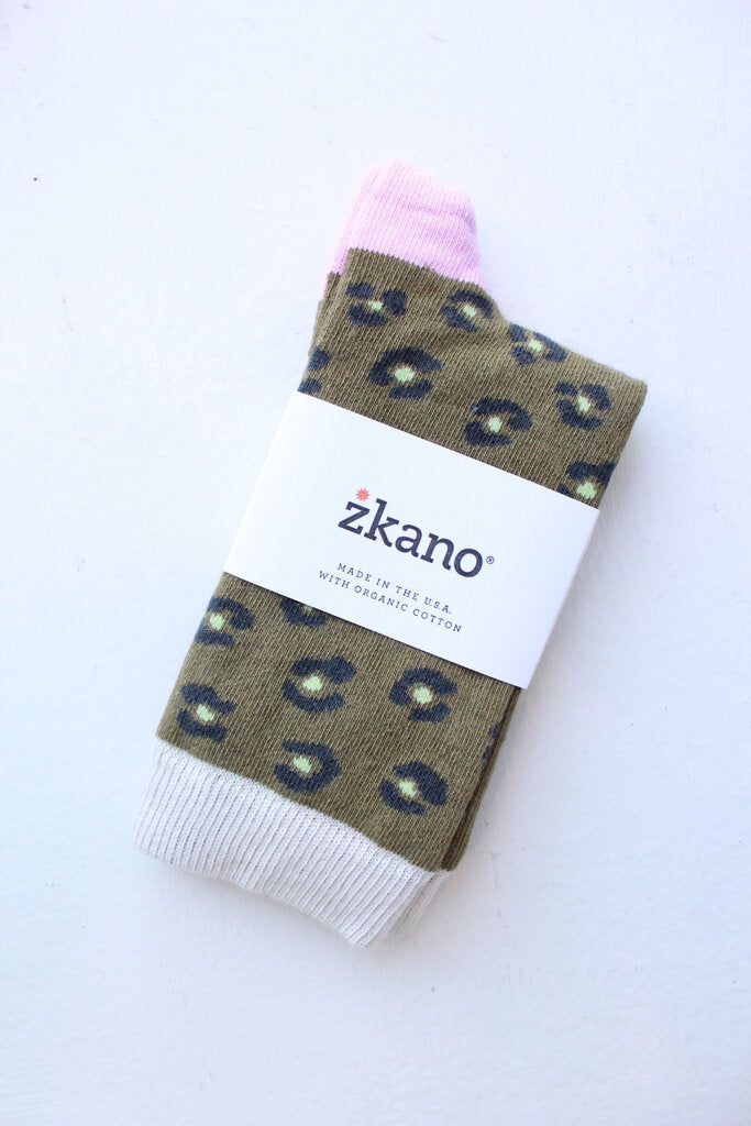 zkano Chloe sock in Moss