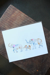 Easy Sunday Club PDX Elephant Family Print