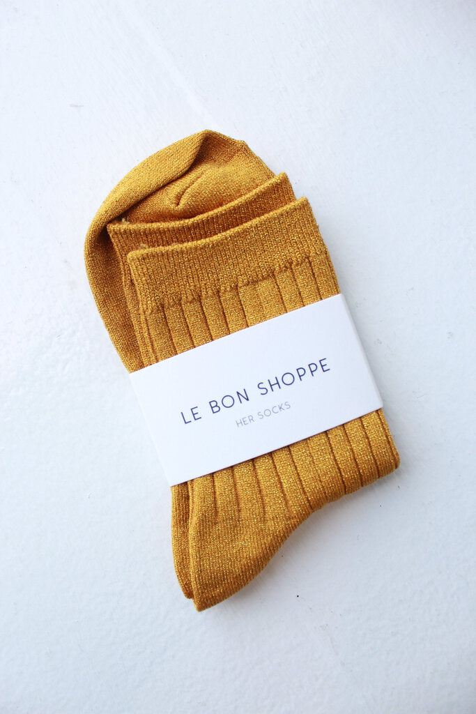 Le Bon Shoppe socks in Lurex Honey Glitter