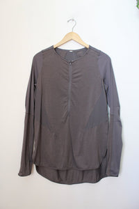 LULULEMON CHARCOAL HALF ZIP SWING TUNIC SZ S/M