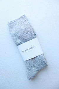 LE BON SHOPPE SNOW SOCK IN COOKIES + CREAM
