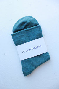 Le Bon Shoppe Sneaker Socks in Pine