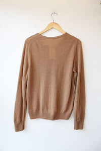 MUJI 100% CAMEL HAIR VNECK SWEATER SZ L (FITS M) NWT