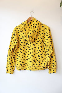 CLARE V. SPOTTED HOODIE IN YELLOW SZ S (NEW) ($199 ONLINE)