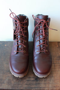 TIMBERLAND JAYNE WATERPROOF LACE UP BOOTS BURGUNDY SZ 8