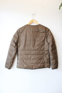 MUJI BROWN MINIMALIST DOWN JACKET SZ S