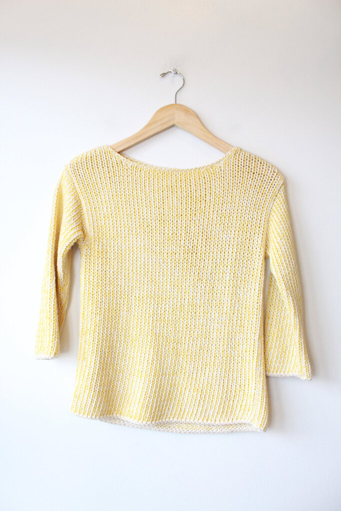 BABAA NO. 8 SWEATER YELLOW (FITS S)