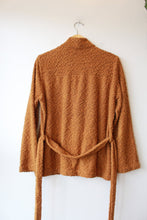 Load image into Gallery viewer, NORTH OF WEST PEBBLE KNIT MARISA JACKET IN ORANGE SZ M