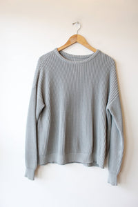 ICY GREY COTTON SWEATER SZ S