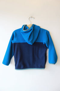 PATAGONIA MICRO D SNAP-T FLEECE JACKET IN NAVY SZ 2T (RETAIL $49)