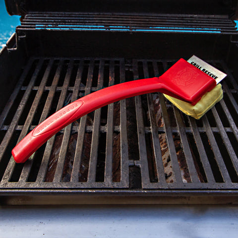 Grill Brush w/ Scraper - World's Safest Grill Brush (No Harmful Wire Bristles)
